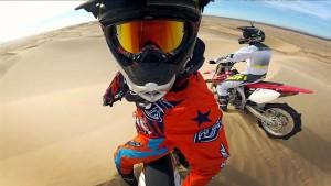 Мотоциклисты с экшн-камерами