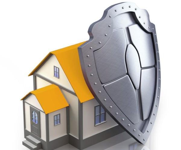 Дом с щитом